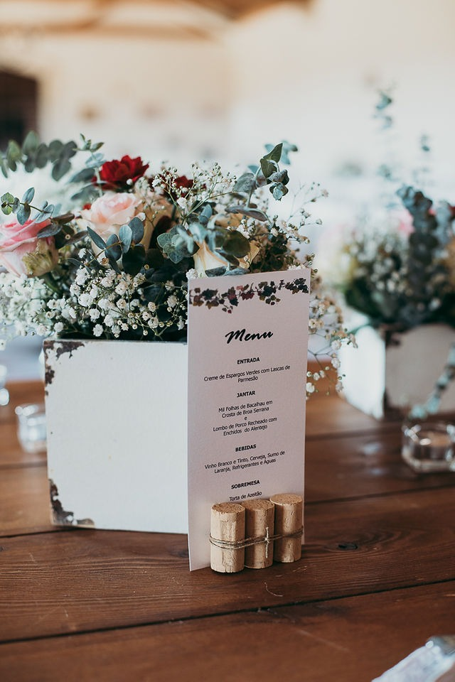 Menu de Casamento | Casamento Margarida & Pedro